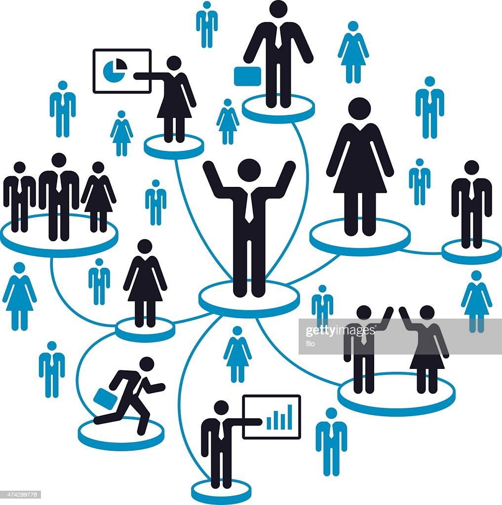 Business People Network : stock illustration