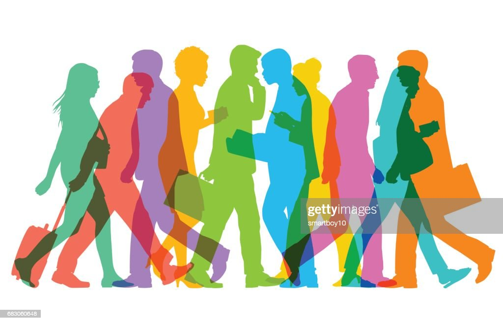 Business People or commuters : stock illustration