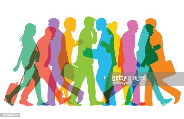 business people or commuters - finance and economy stock illustrations, clip art, cartoons, & icons