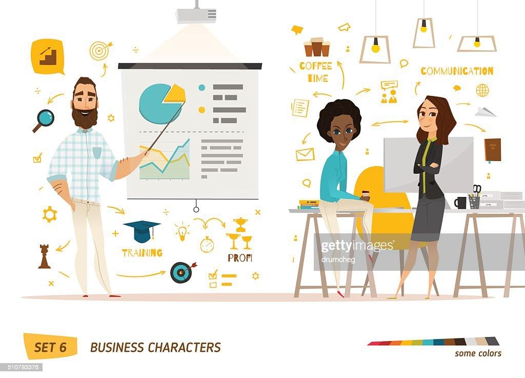 Business people scene