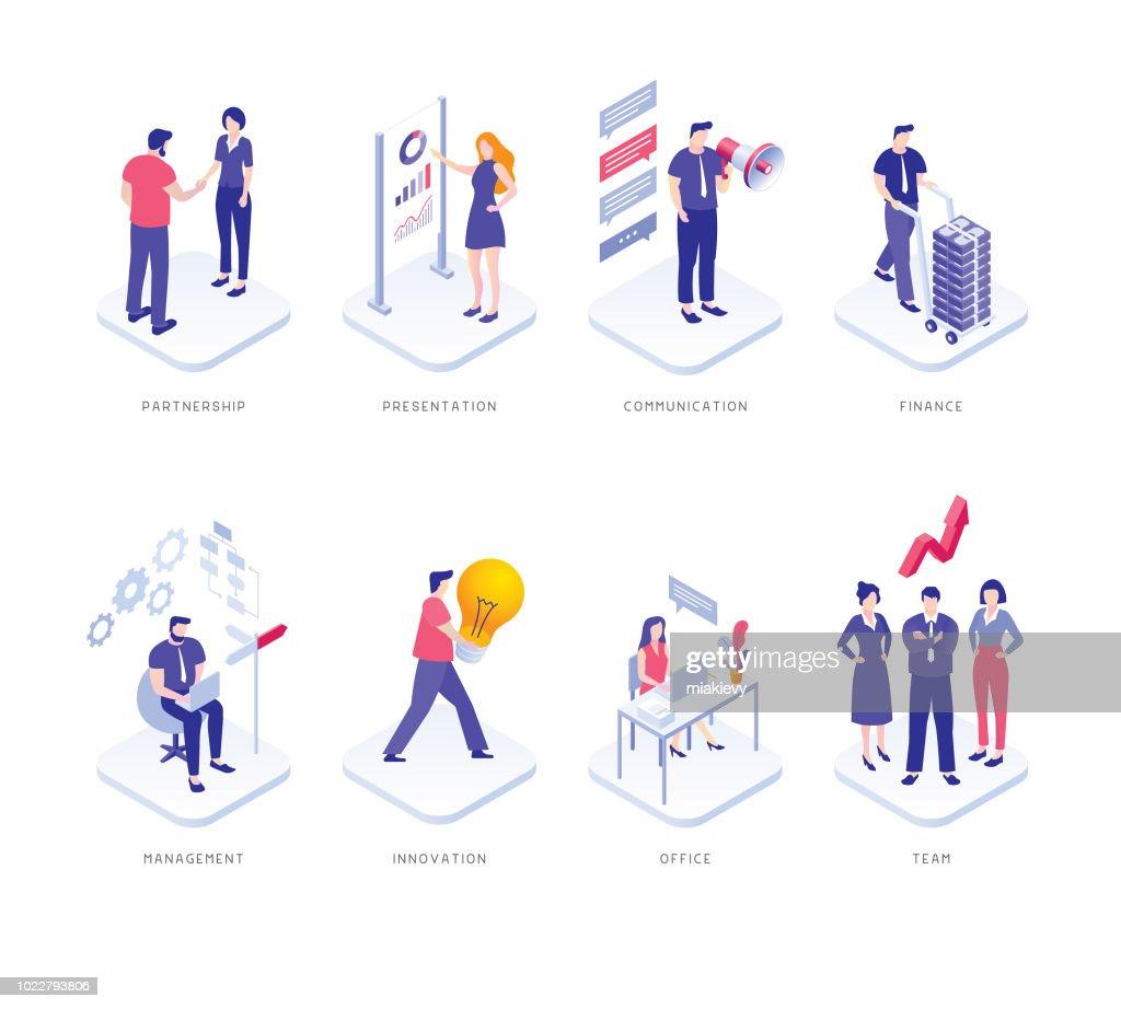 Business people set : stock illustration