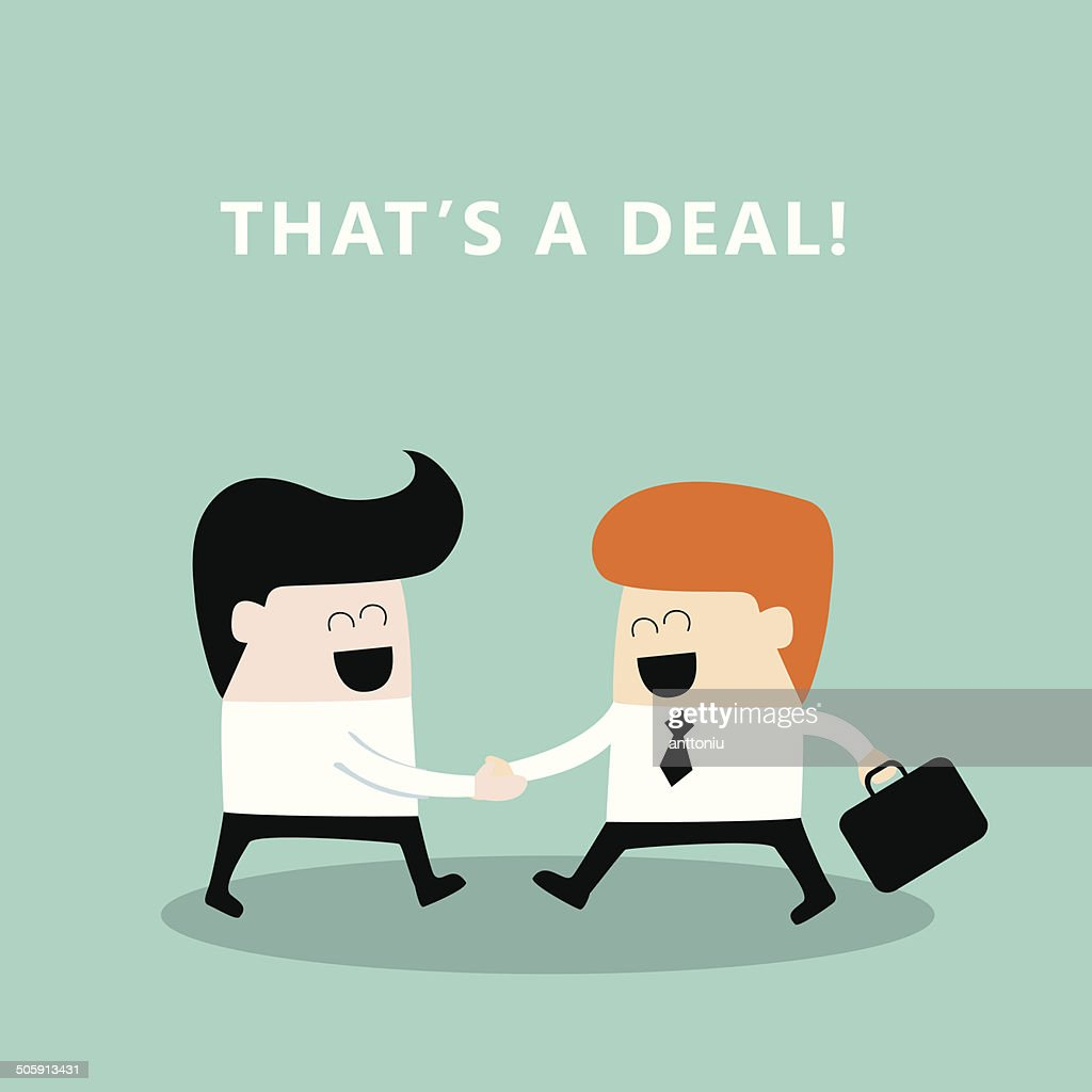 Business people shaking hands Businessmen making a deal successful business