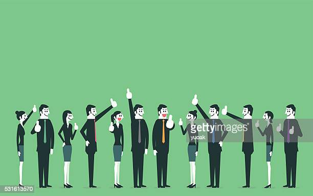 Gens d'affaires montrant thumbs up