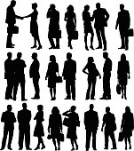 Business People Silhouette Collection