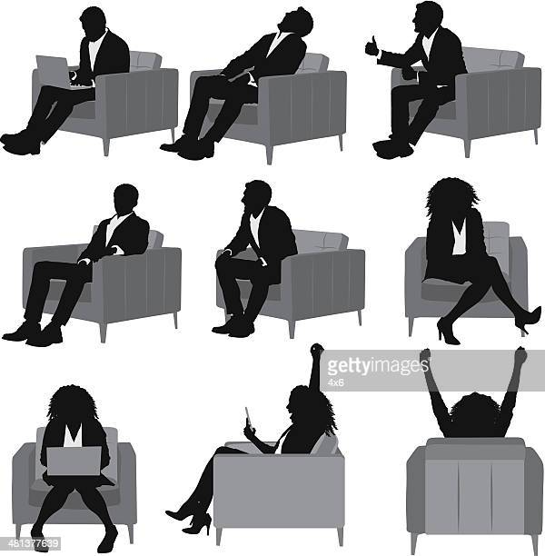 Business people sitting on sofa