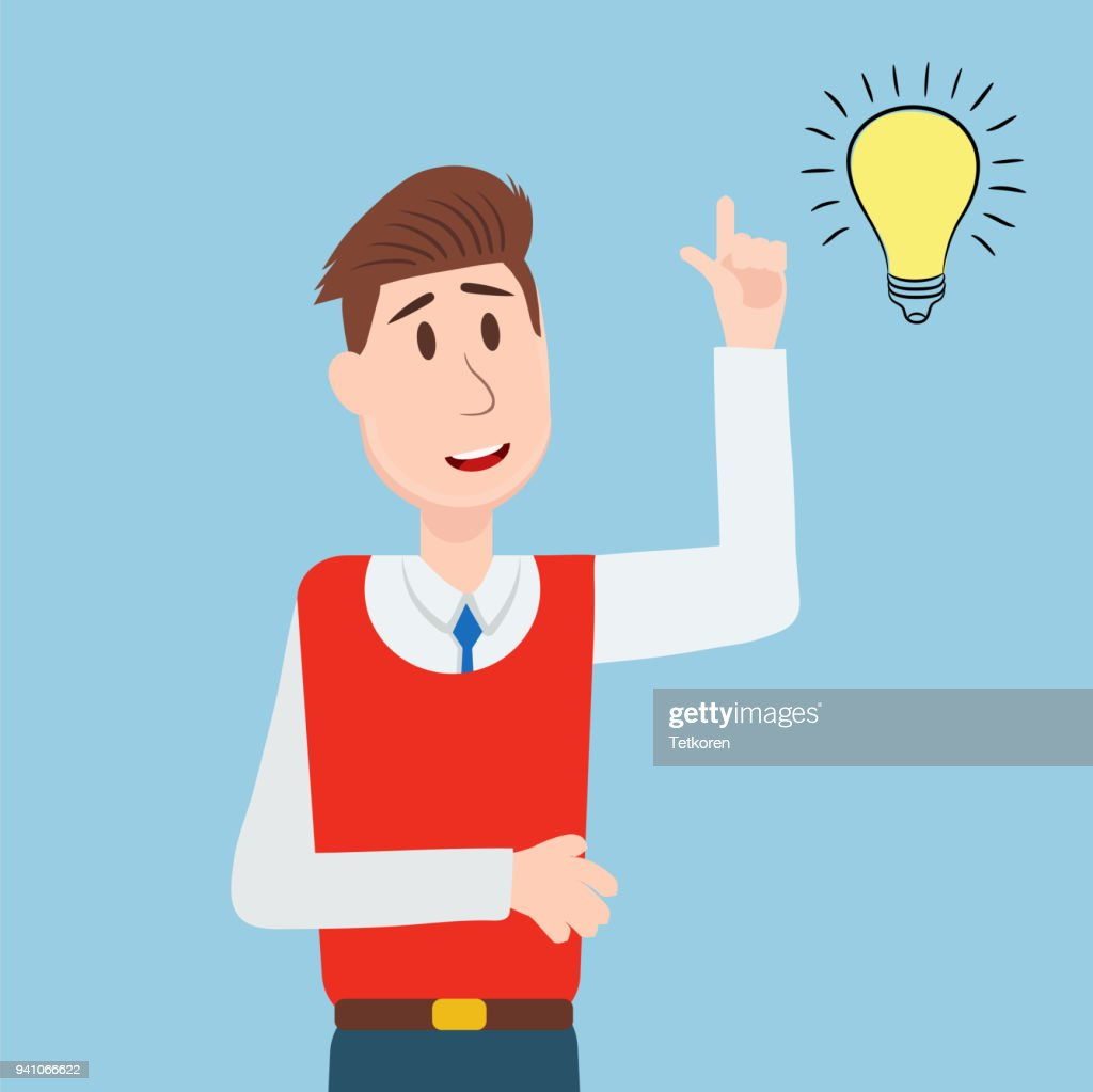 business people student has an idea character vector design