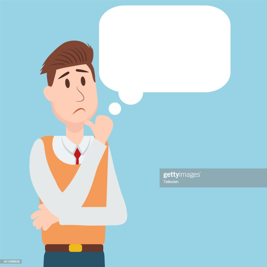 business people student thinking character vector design