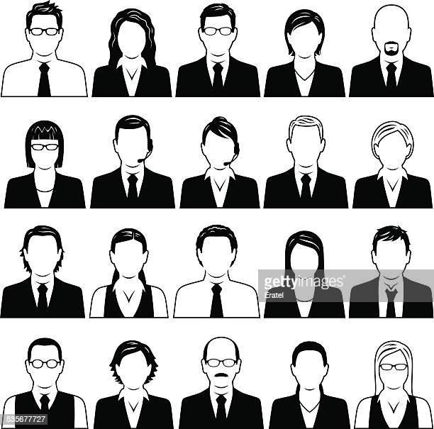 business people symbols - balding stock illustrations, clip art, cartoons, & icons