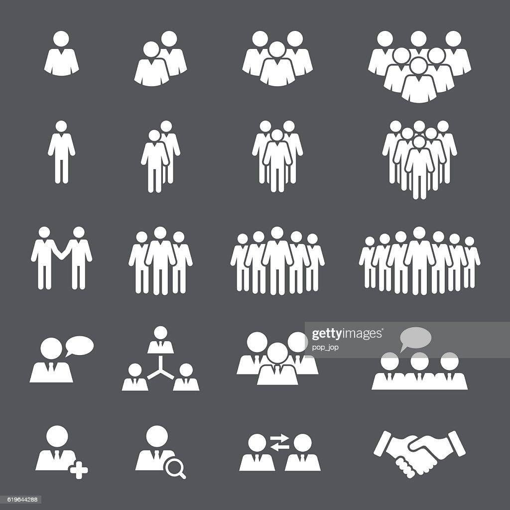 Business People Team Icon Set : stock illustration