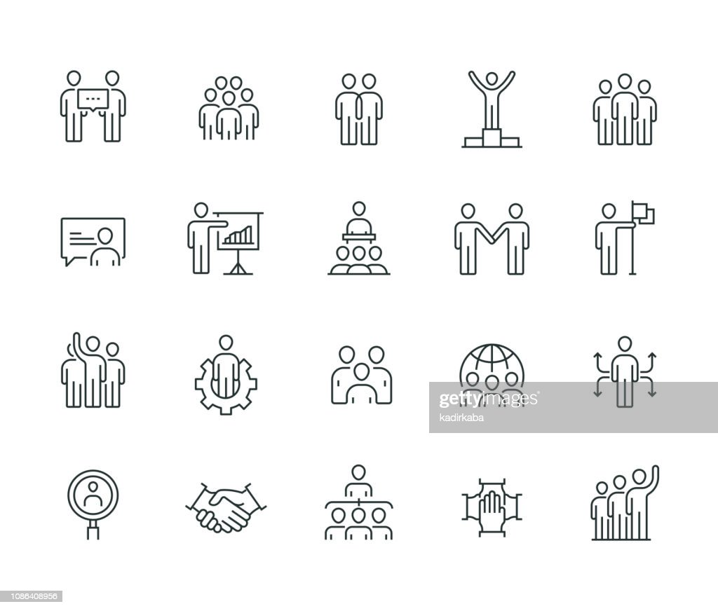 Business People Thin Line Series : stock illustration