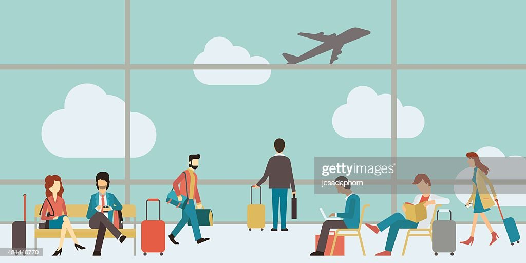 Business people travel