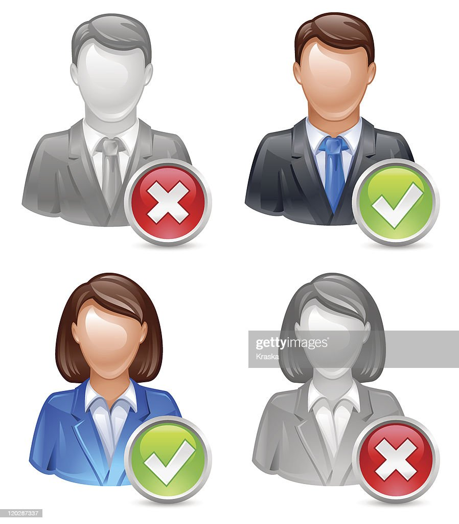 business people user icons
