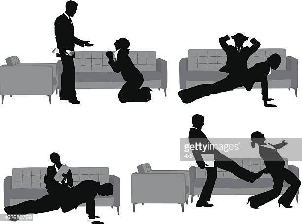 business people - sexual harassment stock illustrations, clip art, cartoons, & icons