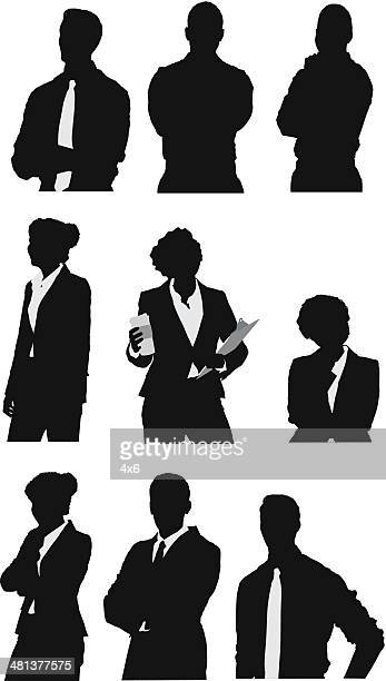 business people - waist up stock illustrations, clip art, cartoons, & icons