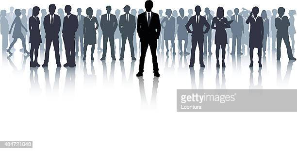 Business People (Each Person is Complete and Moveable)
