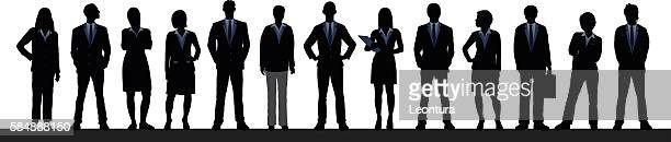 business people (each person is complete and moveable) - generic location stock illustrations