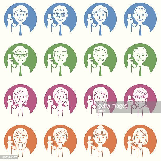 business people with telephone - new hire stock illustrations