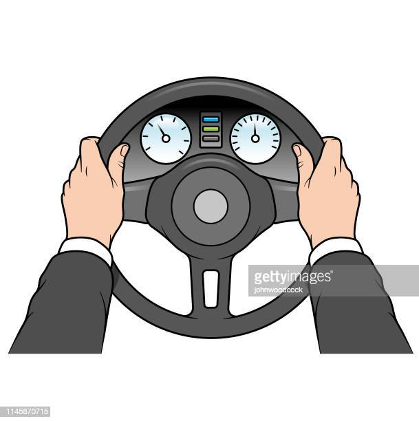 Business person driving illustration