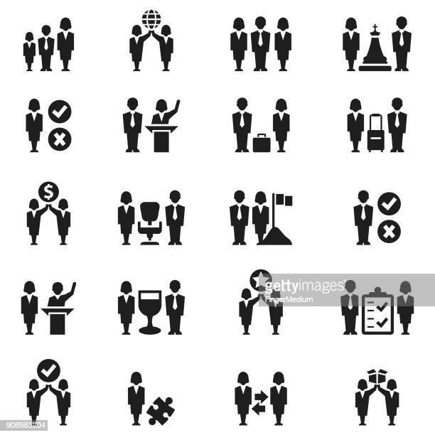 Business person icon set