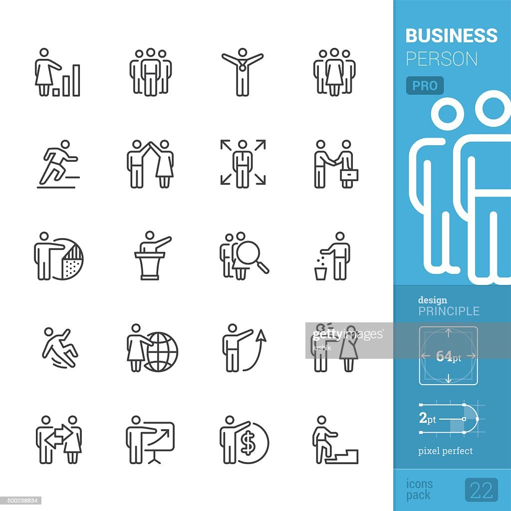 Business Person related vector icons - PRO pack : stock illustration