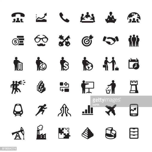 business person style - icons set - oil field stock illustrations, clip art, cartoons, & icons