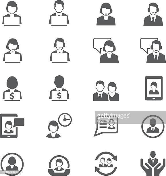 Affaires et icône d'utilisateur de personnes