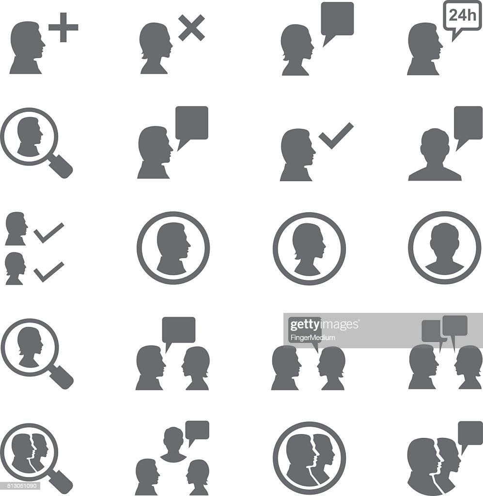 Business persons icon set