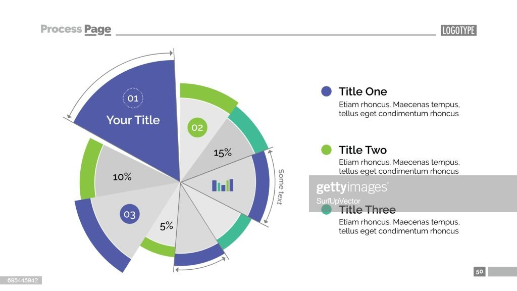 Business Pie Chart Slide Template Vector Art Getty Images