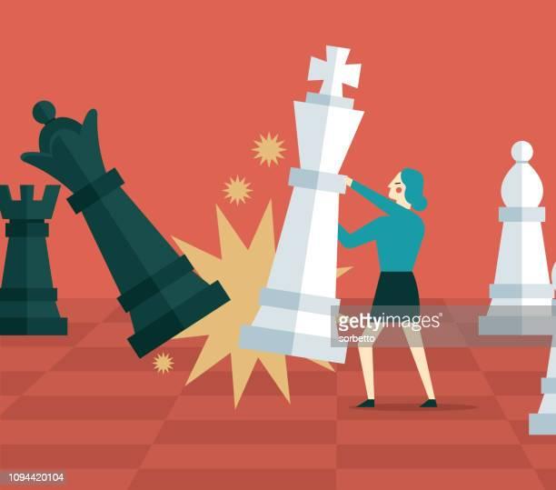 事業計画 - 実業家 - チェス点のイラスト素材/クリップアート素材/マンガ素材/アイコン素材