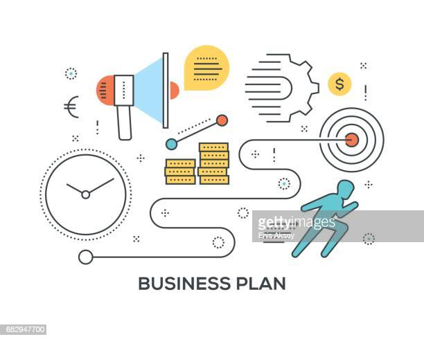 Business Plan Concept with icons