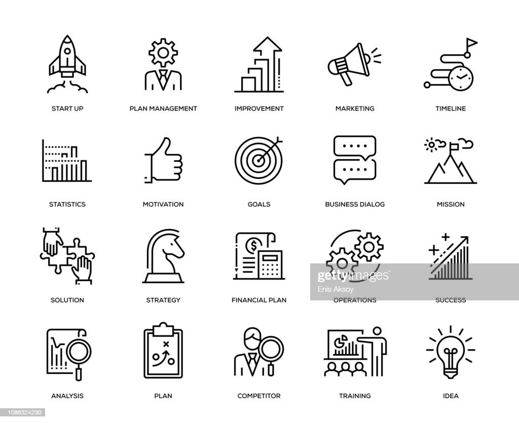 Business-Plan-Icon-Set : Stock-Illustration