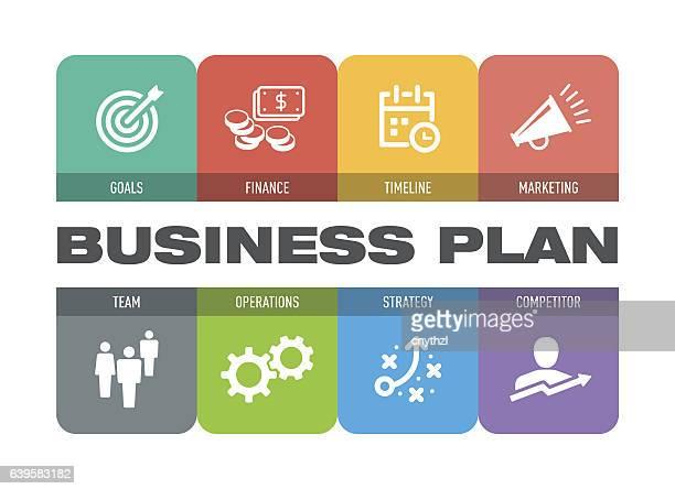ilustrações, clipart, desenhos animados e ícones de business plan icon set - fazer dinheiro