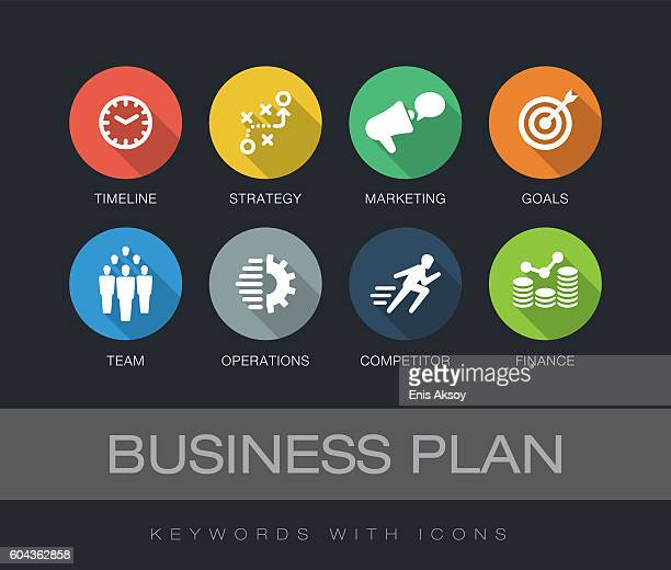 Business Plan keywords with icons