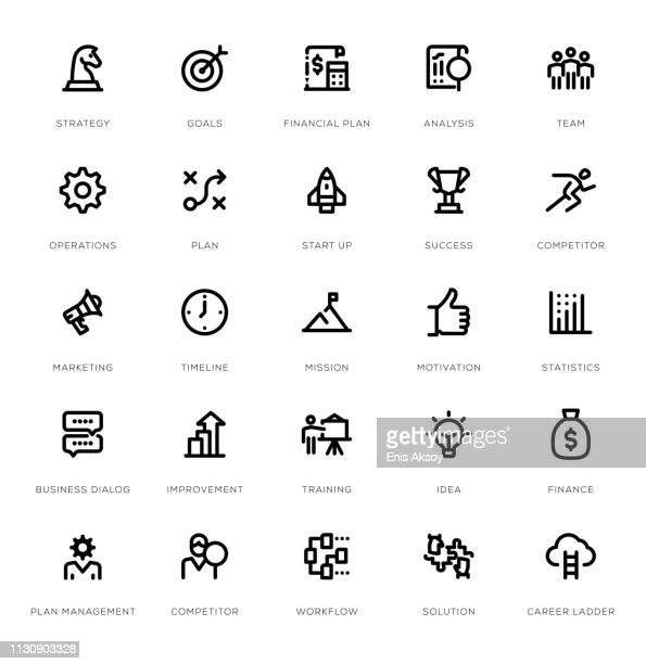 Businessplan Icon Set