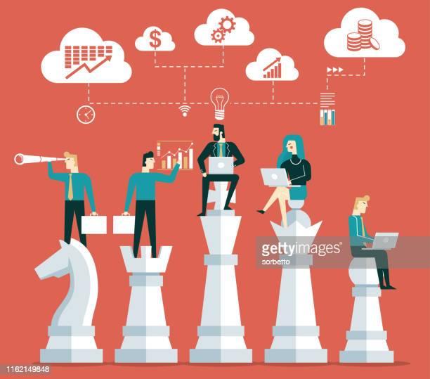 事業計画と戦略 - チェス点のイラスト素材/クリップアート素材/マンガ素材/アイコン素材