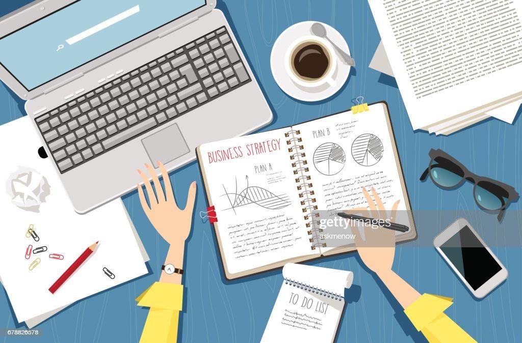 Business planning : stock illustration