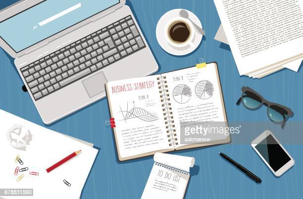 business planning - to do list stock illustrations