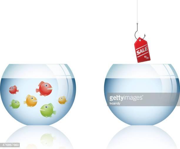 business positioning error - fishbowl stock illustrations, clip art, cartoons, & icons