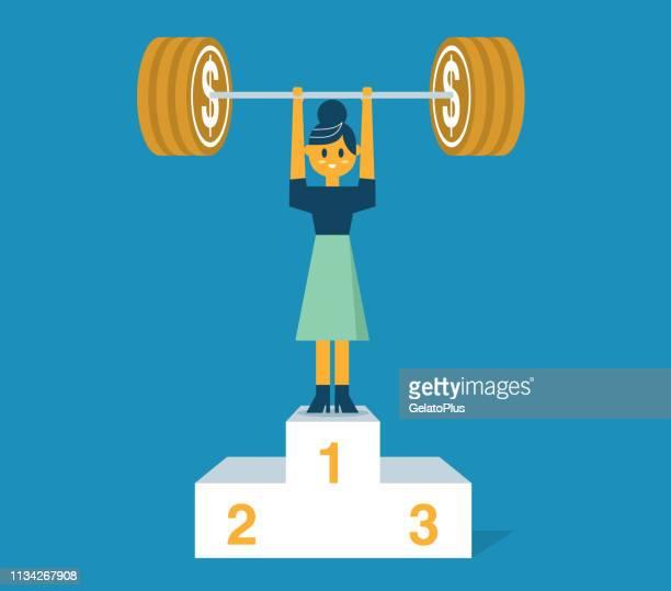 business power strength - busineswoman - body conscious stock illustrations, clip art, cartoons, & icons