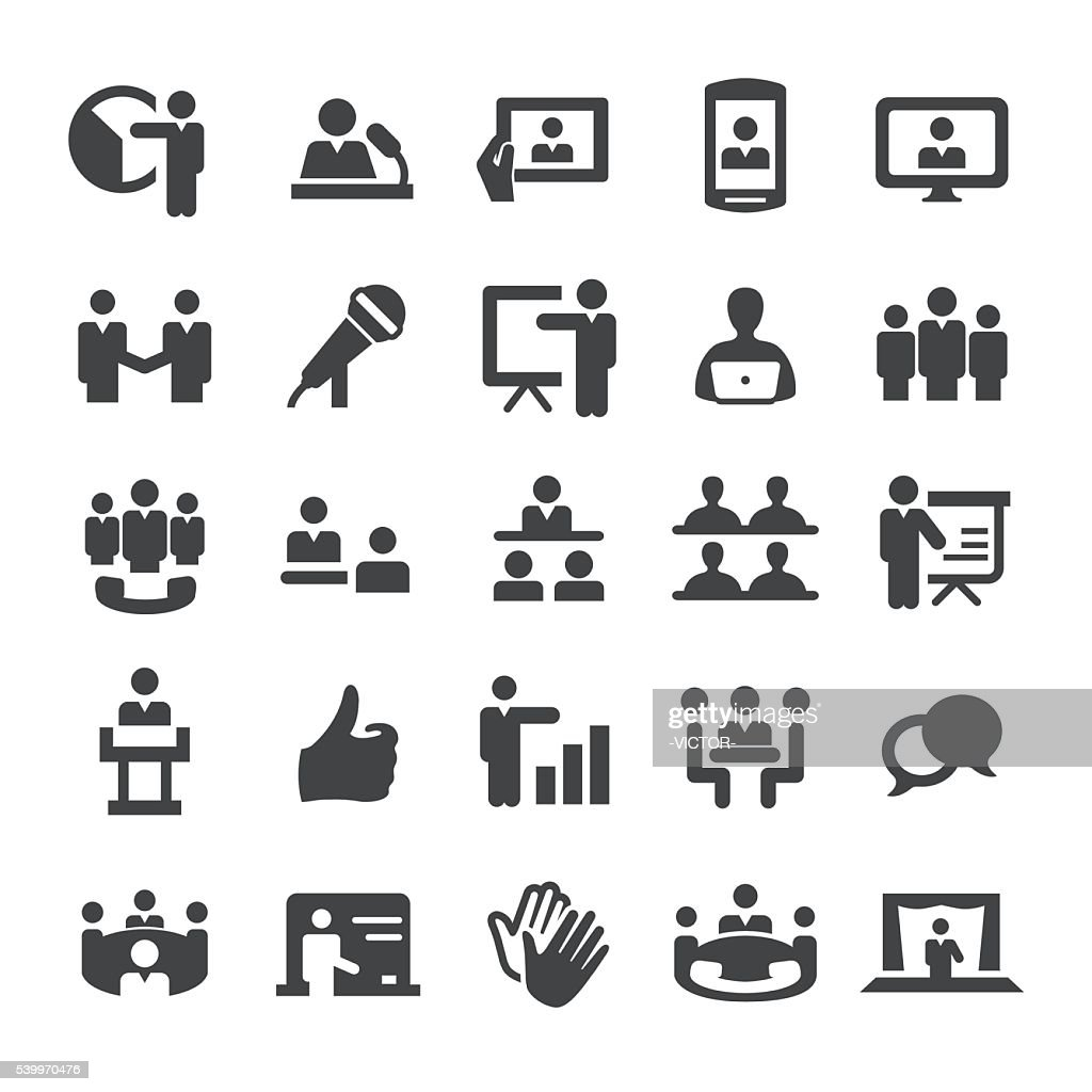 Business Presentation and Meeting Icons - Smart Series : stock illustration