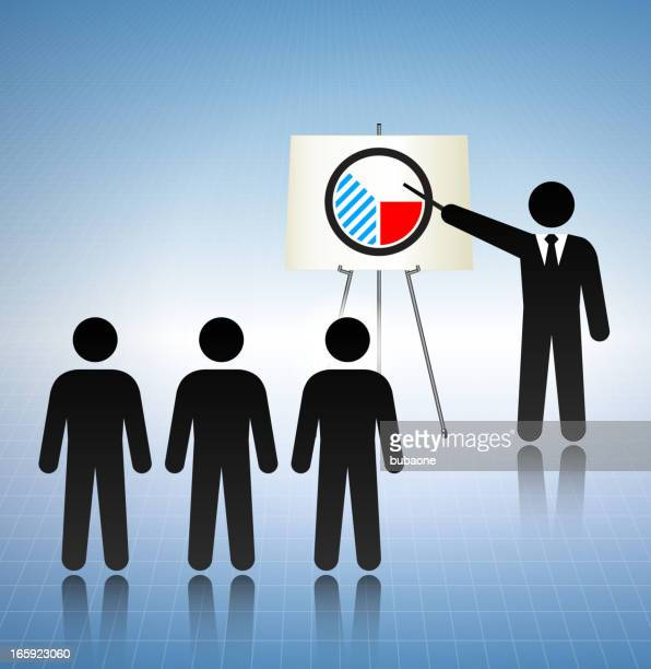 business presentation concept stick figures - fiscal year stock illustrations