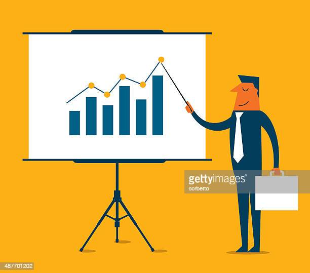 business-präsentation-illustration - präsentation rede stock-grafiken, -clipart, -cartoons und -symbole