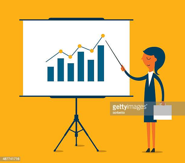 business presentation - illustration - showing stock illustrations