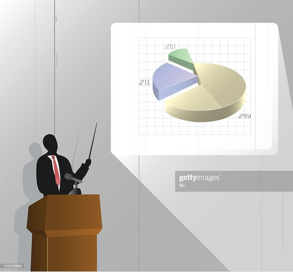 Business Presentation [vector] : Stock Illustration