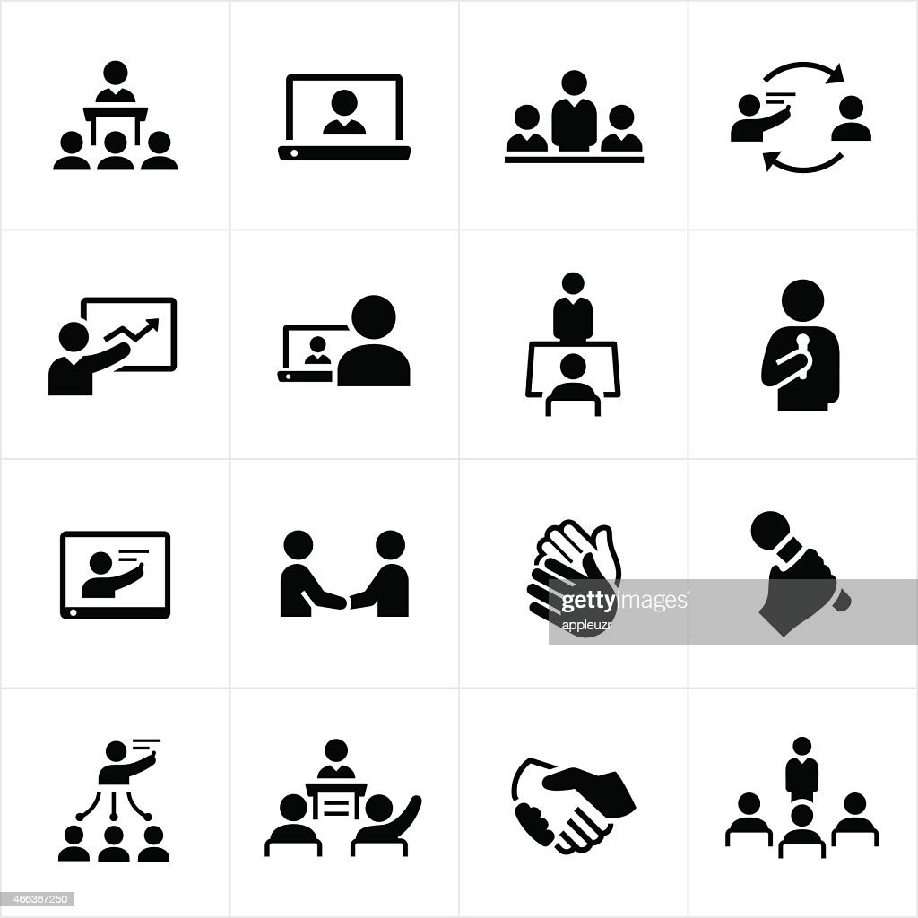 Business Presentations and Meetings Icons