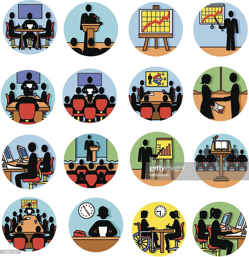 business presentations : stock illustration