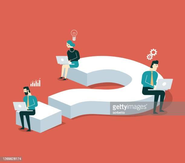illustrazioni stock, clip art, cartoni animati e icone di tendenza di problemi aziendali - decidere