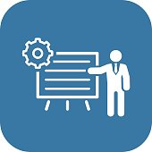 Business Processes Icon. Flat Design.