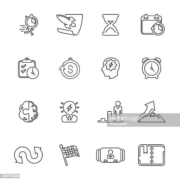 60点のチェッカーフラッグ 人のイラスト素材クリップアート素材