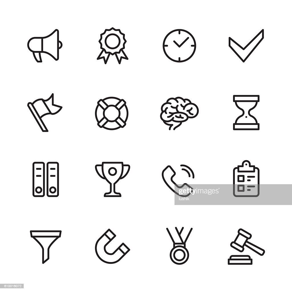 Business Productivity vector icons
